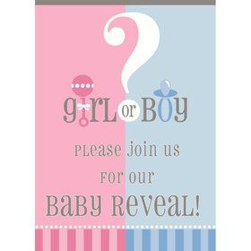 Gender Reveal Invitations (8 Pack)