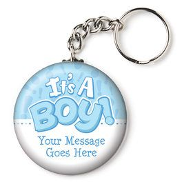 "Gender Reveal: It's a Boy Personalized 2.25"" Key Chain (Each)"