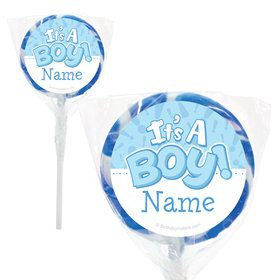 "Gender Reveal: It's a Boy Personalized 2"" Lollipops (20 Pack)"