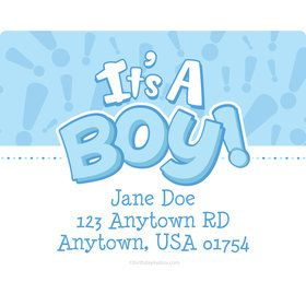 Gender Reveal: It's a Boy Personalized Address Labels (Sheet of 15)