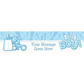 Gender Reveal: It's a Boy Personalized Banner (Each)