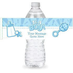 Gender Reveal: It's a Boy Personalized Bottle Label (Sheet of 4)