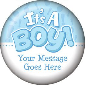 Gender Reveal: It's a Boy Personalized Magnet (Each)