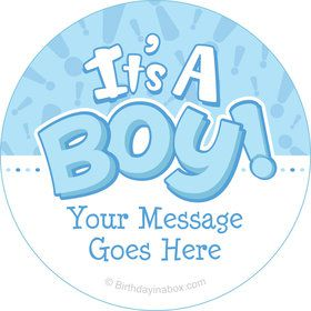 Gender Reveal: It's a Boy Personalized Stickers (Sheet of 12)