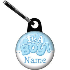 Gender Reveal: It's a Boy Personalized Zipper Pull (Each)