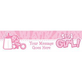 Gender Reveal: It's a Girl Personalized Banner (Each)