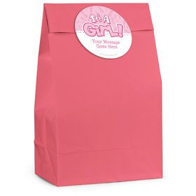 Gender Reveal: It's a Girl Personalized Favor Bag (12 Pack)