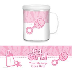 Gender Reveal: It's a Girl Personalized Favor Mug (Each)