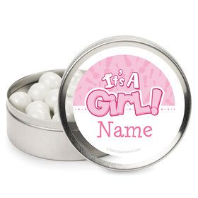 Gender Reveal: It's a Girl Personalized Mint Tins (12 Pack)