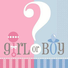 Gender Reveal Luncheon Napkins (20 Pack)