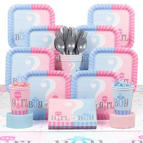 Gender Reveal Party Deluxe Tableware Kit Serves 20