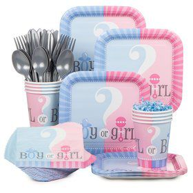 Gender Reveal Party Standard Tableware Kit Serves 20