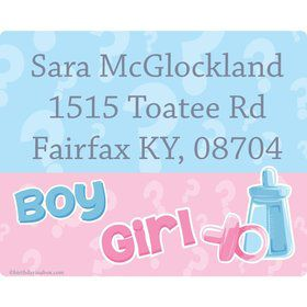 Gender Reveal Personalized Address Labels (Sheet of 15)