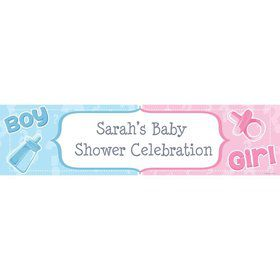 Gender Reveal Personalized Banner (Each)
