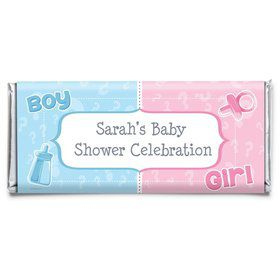 Gender Reveal Personalized Candy Bar Wrapper (Each)