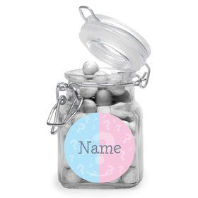 Gender Reveal Personalized Glass Apothecary Jars (10 Count)