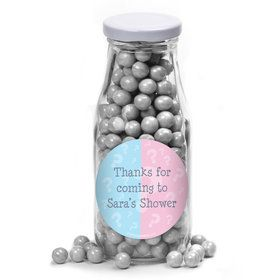 Gender Reveal Personalized Glass Milk Bottles (10 Count)