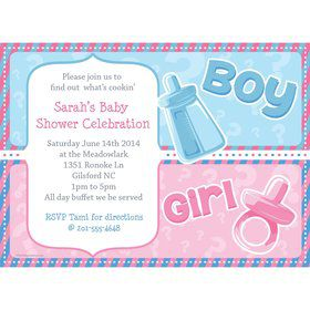 Gender Reveal Personalized Invitation (Each)