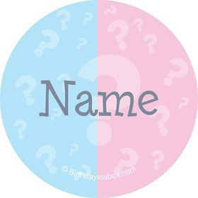 Gender Reveal Personalized Mini Stickers (Sheet of 20)