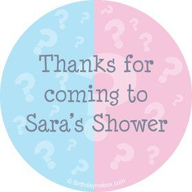 Gender Reveal Personalized Stickers (Sheet of 12)