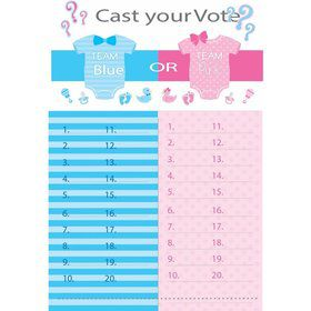 Gender Reveal Tally Board