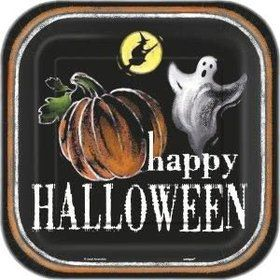 "Ghostly Halloween 9"" Luncheon Plates (8 Pack)"
