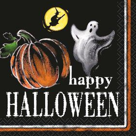 Ghostly Halloween Beverage Napkins (24 Pack)