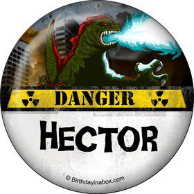 Giant Monster Personalized Button (Each)