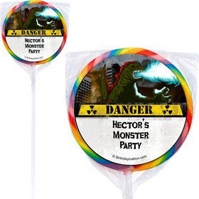 Giant Monster Personalized Lollipops (12 Pack)
