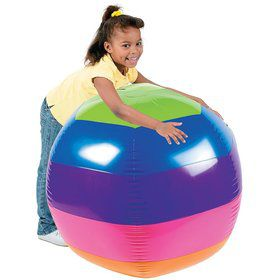 "Giant Rainbow 3"" Beach Ball (Each)"