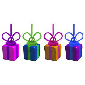 Gift Box 10Oz. Sipper Cup W/ Krazy Straw (Each)