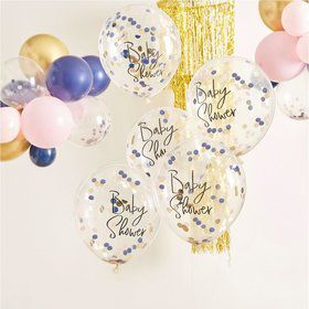Ginger Ray Confetti 'Baby Shower' Balloons