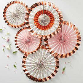 Ginger Ray Ditsy Floral Fan Decorations