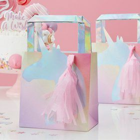Ginger Ray Make a Wish Foiled Unicorn Tassel Treat Bag