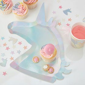 Ginger Ray Make a Wish Unicorn Shaped Plates