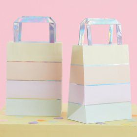 Ginger Ray Pastel Party Foil Stripe Treat Bag