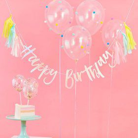 Ginger Ray Pastel Party Happy Birthday Tassel Banner