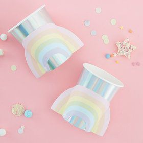Ginger Ray Pastel Party Pop-Out Rainbow Cups