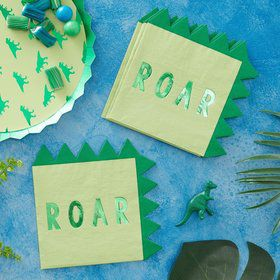 Ginger Ray Roarsome Dinosaur Spike Lunch Napkins