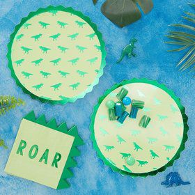 Ginger Ray Roarsome Dinosaur Spike Lunch Plates