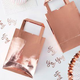 Ginger Ray Rose Gold Treat Bag