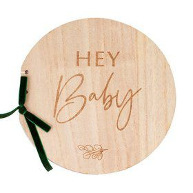 Ginger Ray Wooden Hey Baby Guest Book