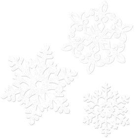 Glitter Snowflakes Paper Cutout Assortment (20 Pack)