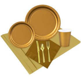 Glittering Gold Party Pack