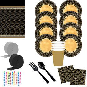 Glitz & Glam Deluxe Tableware Kit (Serves 8)