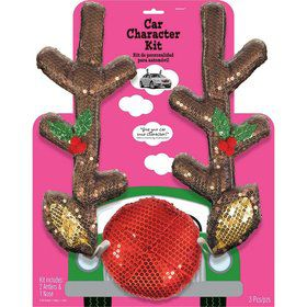 Glitzy Reindeer Car Decorating Kit