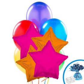 Hot Pink & Orange Star Balloon Bouquet