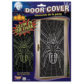 Glow in the Dark Spider Door Poster