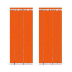 "Glow Orange 3/4"" Paper Wristbands (100 Count)"