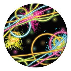"Glow Party 7"" Cake Plates (8 Count)"